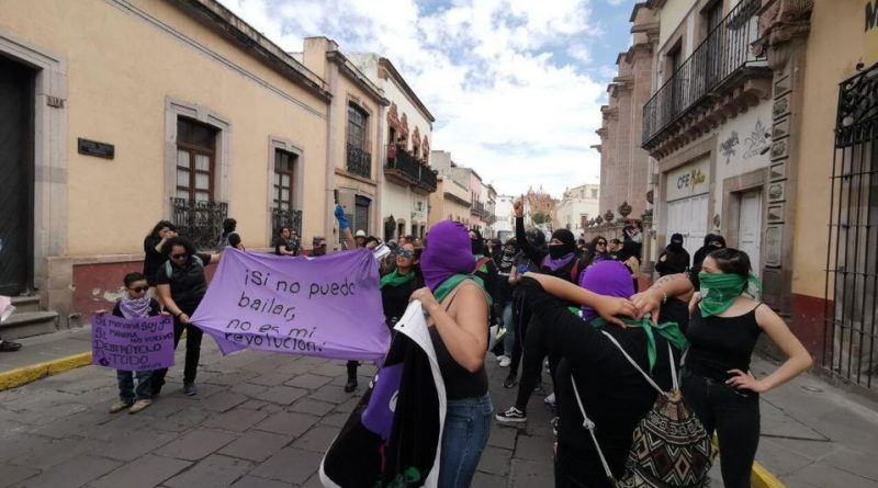 En preparativos marcha 8M en Zacatecas