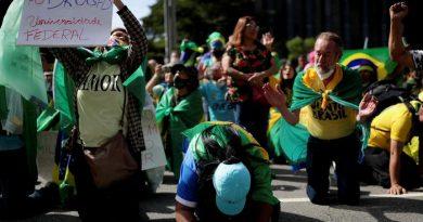 Brasil vive día de marchas favor de Jair Bolsonaro